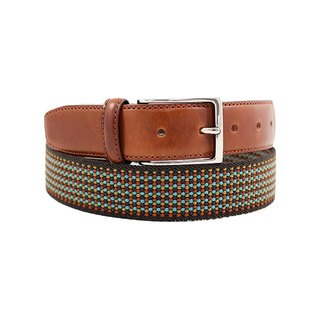 LAPELI │ BELGIUM elastic fabric belt - colorful finish dark green