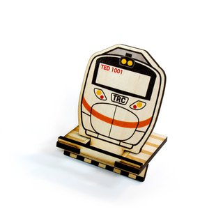 Taiwan Railway Taroko GEMU1000 × Ray Wood DIY Phone Stand [Work hard. For that trip on the railway. 】Card Holder × Note Paper × Office cash register utility