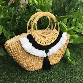 Bag : klungsee tribal bag white & black
