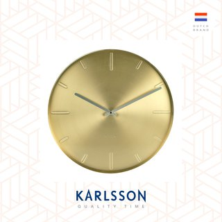 Karlsson, Wall clock Belt brass plated, Design by Boxtel Buijs