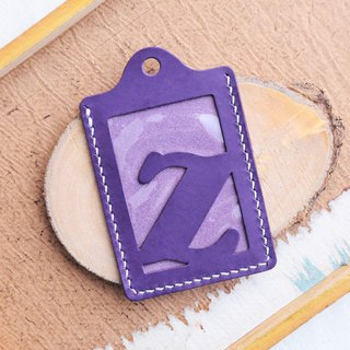 Initial Z letter ID sets of well-stitched leather material bag card holder name card holder free engraving