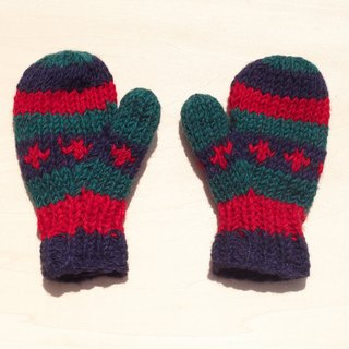 Limited edition knitted pure wool warm gloves / children's gloves / child gloves / inner bristles gloves / knitted gloves / boxing gloves - South American tones stripes
