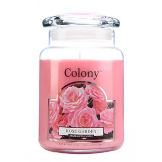 British Candle Colony Rose Garden Glass Canned Candle 150hr