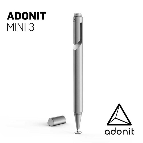 Adonit Mini 3 Mini Accompaniment Touch Pen - Silver