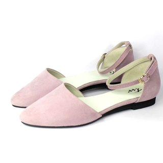 Pointed toe pink flats