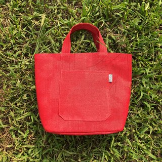 Paper Cord Small Tote Bag (Red)