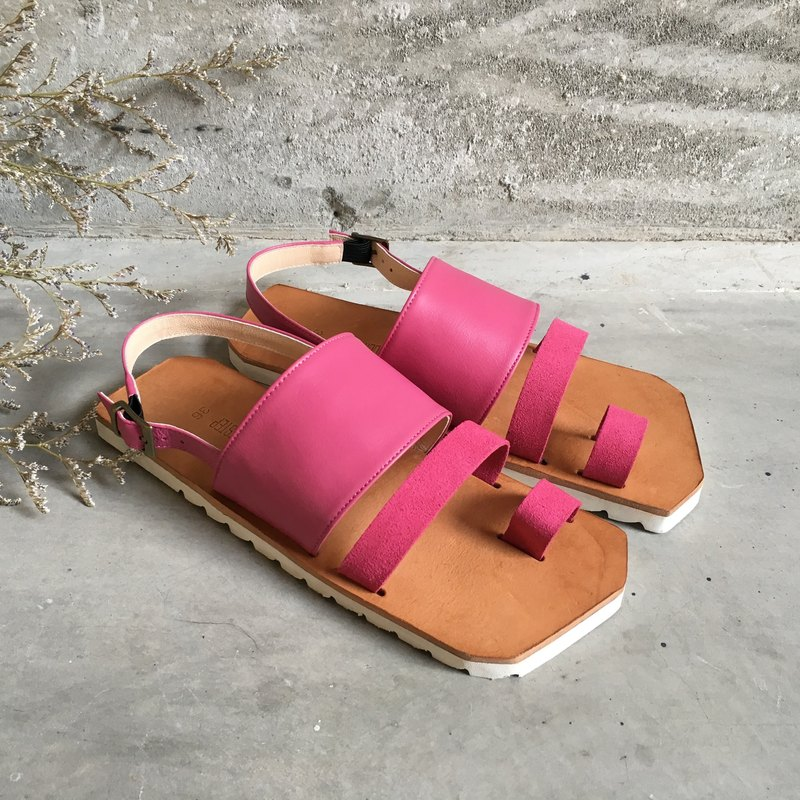 CLAVESTEP XIII Sandals - Leather Sandals - thirteen - Fuchsia