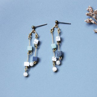 Rattan - earring  clip-on earring