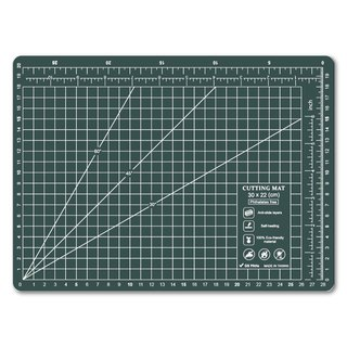 Lightweight odorless cutting pad (A4) translucent dark green / art professional use
