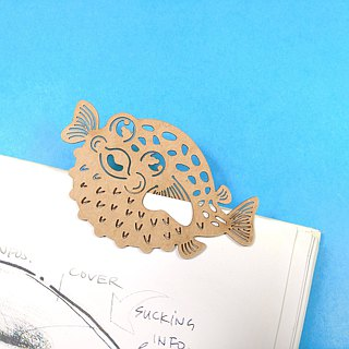 MARK TAIWAN Mai Mai Zoo - Black Bleu River (paper bookmark)