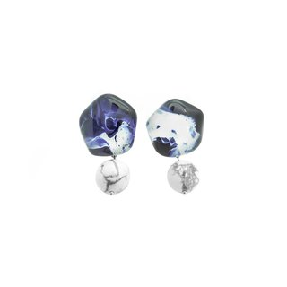 Glass Earrings Marble Collection