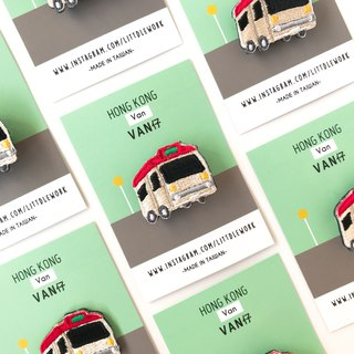Littdlework Hong Kong Series Pins | Red Van | Red Minibus