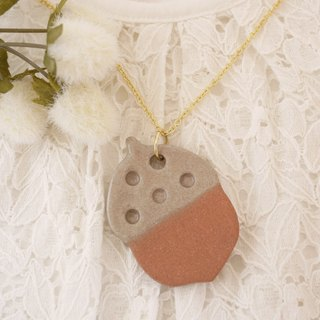 Acorn necklace 【Dots ball】 / Acorn necklace 【Polka dot】