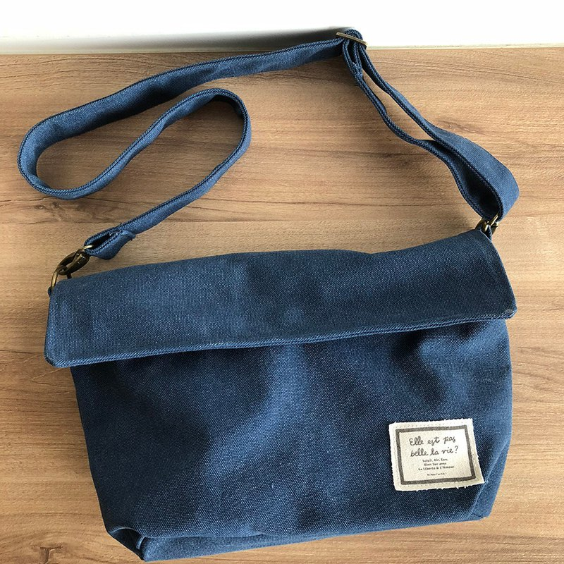 FIFI Personality Messenger Bag - Washed Blue