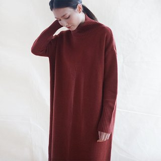 KOOW Go Easy versatile turtleneck dress for fall and winter wool cashmere skin-friendly knit skirt
