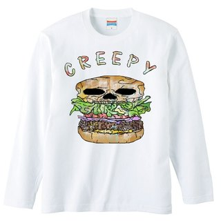 [Long Sleeve T Shirt] Creepy hamburger