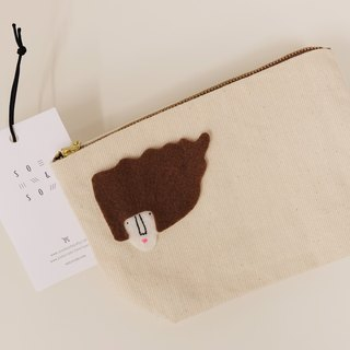 Missy Hairy Collection / Japanese Denim Fabric Pouch