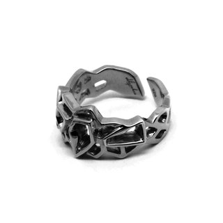 WIREFRAME Ring (S) / Metallic Black (Small)
