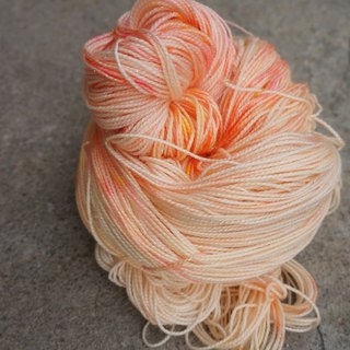 Hand-dyed wire spark Series - lactic acid orange bubble