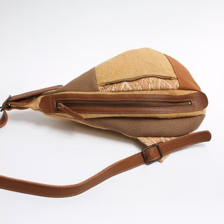 Shoulder bag · Beige type patchwork