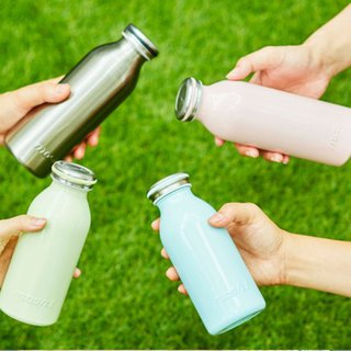 Japan MOSH! Milk Insulation Cold Bottle 350ML (Peach Blossom Red)