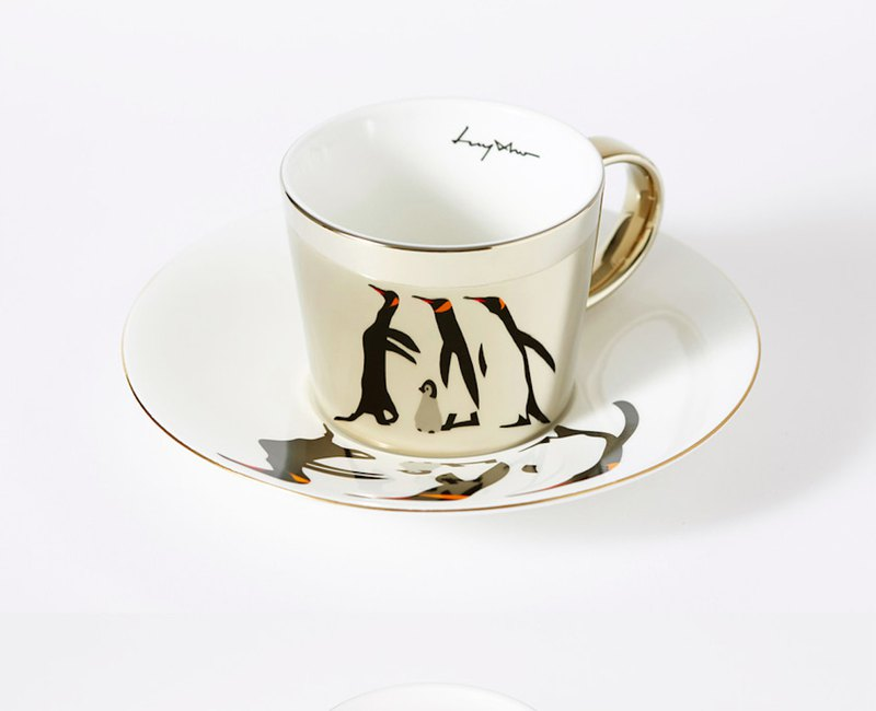 Luycho 鏡面倒影杯組 咖啡杯 _ 企鵝