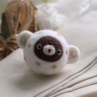Magic Forest - super adorable little bear wool felt ornaments