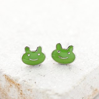 Frog Earrings in 925 Sterling Silver