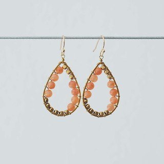 Angel's tears earrings salmon (clip-on / piercing)
