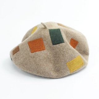 Ke man handmade original design Beret women male general autumn and winter pure wool wild Korean new art elegant