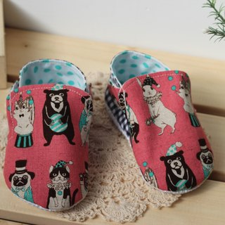 Animal Circus - pink toddler shoes