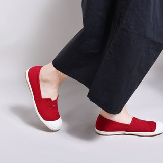 New BETTY / dark red / lazy shoes / canvas shoes / casual shoes / Taiwan good products