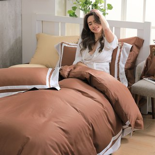(Increased size) Dream original color - Cappuccino 60 cotton multi-layer design bed package four-piece group