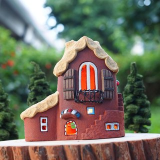 [Lighthouse] Lighthouse House - Lovely Home/Ceramic Lighted House/Without Wood Accessories and Handmade Tree Owl/Order Order