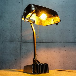 Reassemble lamp Scrap metal desk lamp