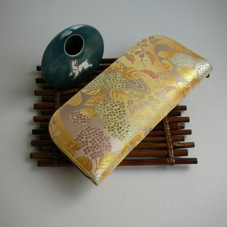 "Beijing West Jinyu Jinzhi ""hydrangea flowing water gold orchid"" - long clip / wallet / coin purse / gift"