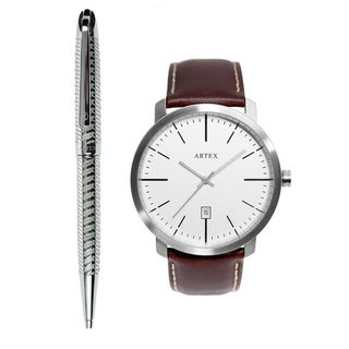 ARTEX Jazz Ball Pen + Watch Dual Combination / Silver Key