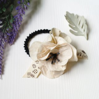 Winter series - Fabric Flower Hair Band Hair Tie HA0215