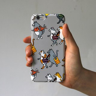 IPhone case cats (gray)