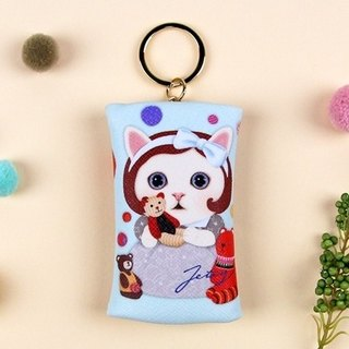 JETOY, Sweet Cat Coin Purse Key Ring_Gomi J1707705