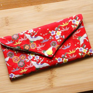 He Shou Yannian red envelopes - red cloth bags wedding cloth red envelopes bags horizontal red bags pouch hygienic storage bag pouch pocket