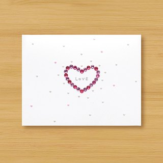 Hand-studded three-dimensional card _ LOVE bloom love small universe - blue ..... Valentine card