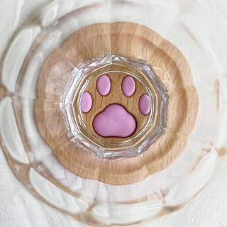 Paw's Meatball Coaster <solid wood>