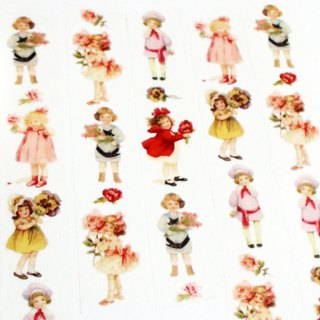 Masking Tape Little Flower Girl