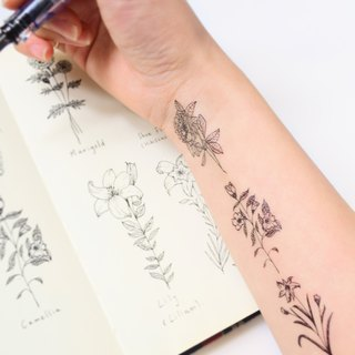 Flowers temporary tattoo buy 3 get 1 Floral tattoo party wedding decoration