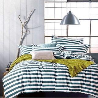 (Increase) Ikea Fashion (Green) - Double Sided Design 100% Combed Cotton Thin Bed Packs Four Pieces Queen