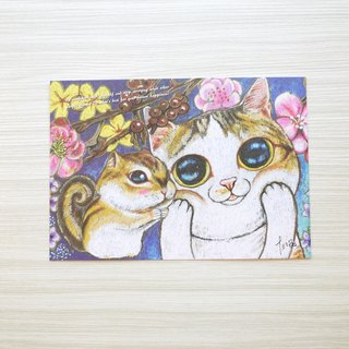 Cat postcard illustration - Chubby