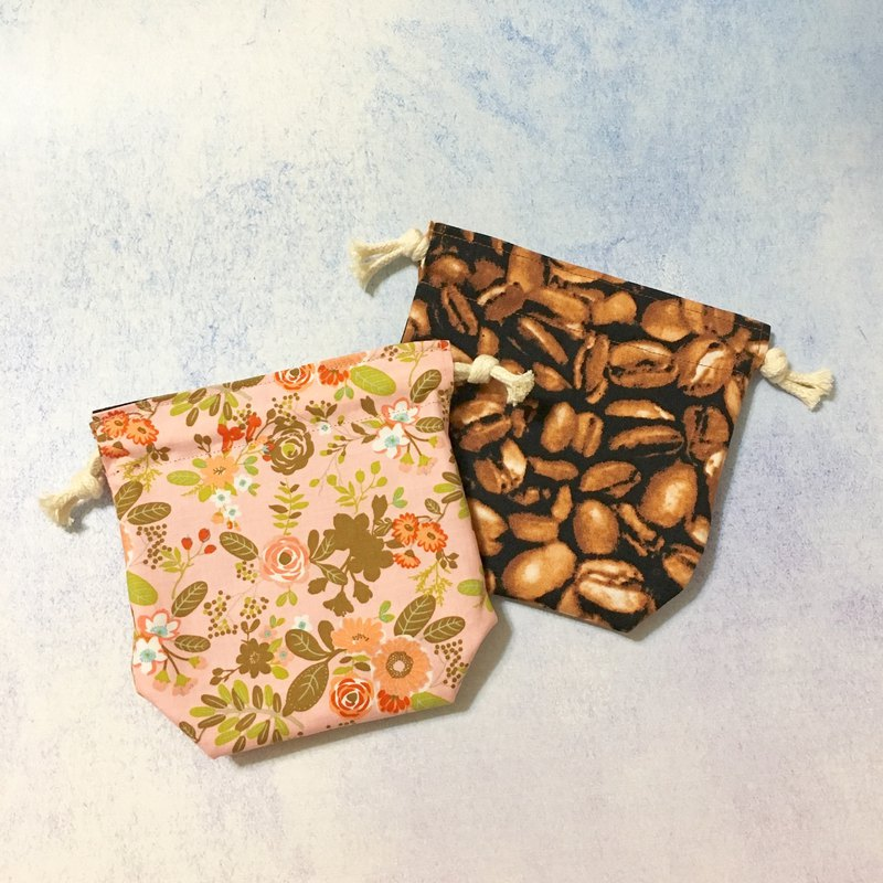 Flowers and plants set x coffee beans - double-sided storage beam pocket - small