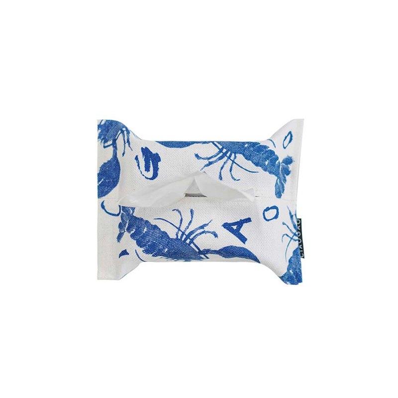 草稿CIAOGAO 獨立設計夏天清涼百搭性冷淡白藍紙巾包紙巾盒紙巾套
