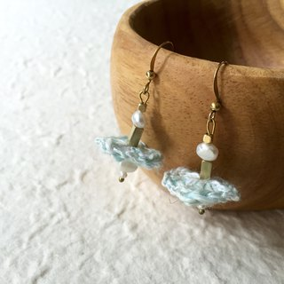 Crochet earrings -Ballerina (pastel blue)